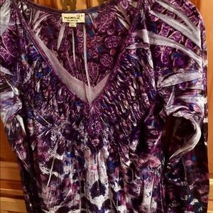 One World purple tunic top size small